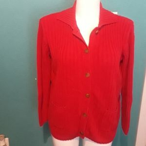 Cabin creek red sweater.